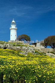 Lighthouse, Archaeological Park, Paphos, Cyprus.