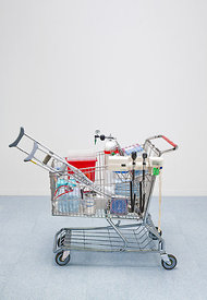 Medical objects in a shopping cart