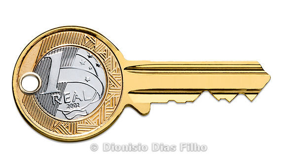 Brazilian coin key