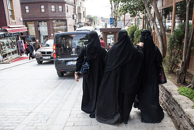 Three woment in black , Istanbul