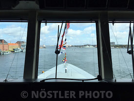 The bridge on the Danish frigate HMDS Niels Juel