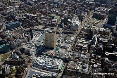aerial photograph of the Arndale Centre in Manchester