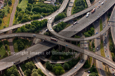 Spaghetti Junction on the M6 at Birmingham.  The infamous road network.