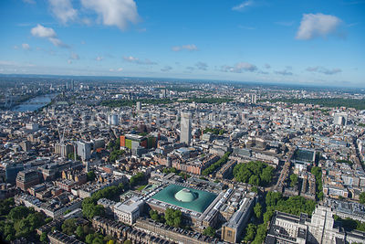 Aerial view of London Bloomsbury and Fitzrovia