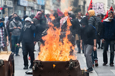 Protest against the El Khomri work law in Marseille