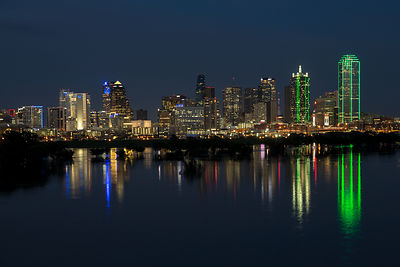 Dallas Skyline Refected at Night
