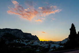 Sunset over Capri