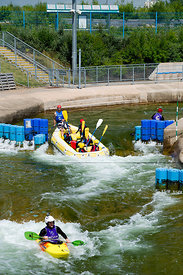 Cardiff International White Water Centre, Sports Village, Cardiff Bay, Cardiff, Wales, UK.