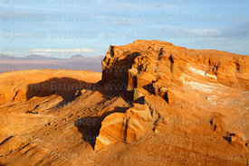 Rock formations near Achaches viewpoint in Valle de la Luna, Los Flamencos National Reserve, Chile