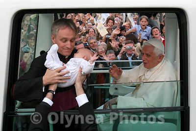 Visit of Pope Benedict XVI in Lourdes  photos, pictures, picture, agency