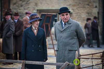 Downton Abbey Filming in Lacock March 2015 photos