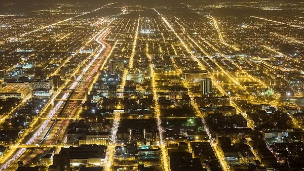Bird's Eye: Lights, City Grids, & Highways Forever
