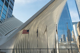 A view of the Oculus at World Trade Center in Lower Manhattan, New York City