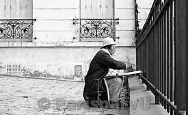 "The Painter of ""Place Emile Goudeau"" Paris 18th"