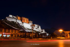 Potala Palace in Lhasa, Tibet.  It was the chief residence of the Dalai Lama until the 14th Dalai Lama fled to India during the 1959 Tibetan uprising. It is now a museum and World Heritage Site.