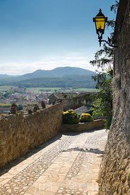 A view of the countryside surrounding the town of Pals in Girona, Spain