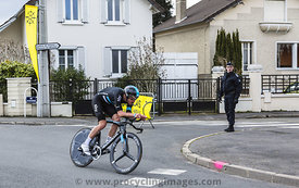 The Cyclist Luke Rowe - Paris-Nice 2016