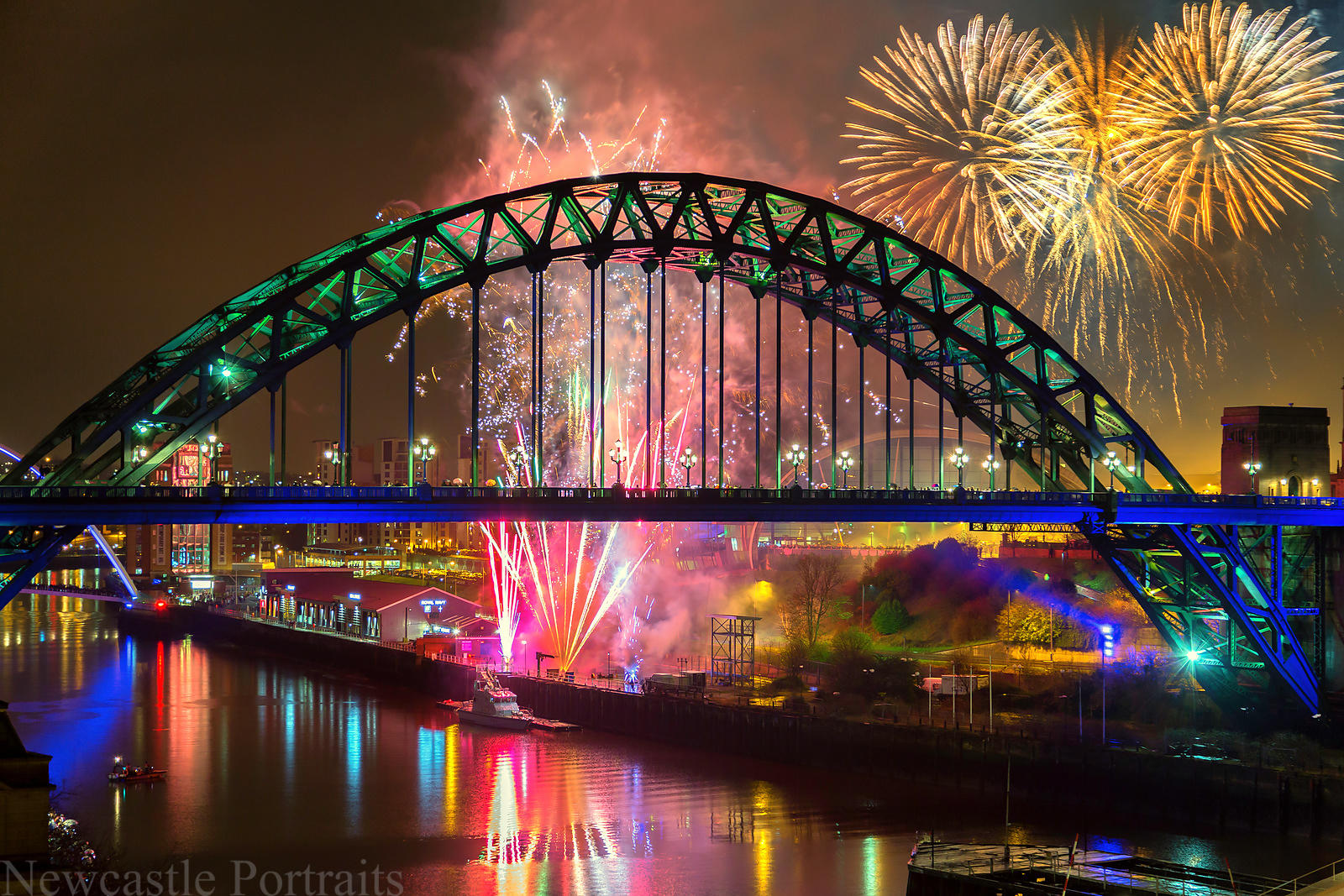 Newcastle Gateshead New Year Fireworks