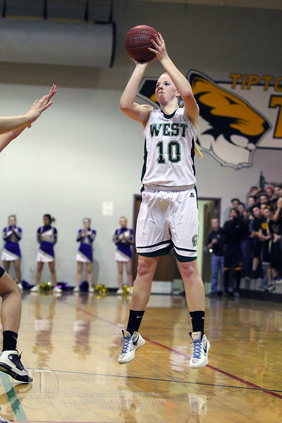 Iowa City West vs Muscatine Girls Basketball Regional Finals 2/21/12