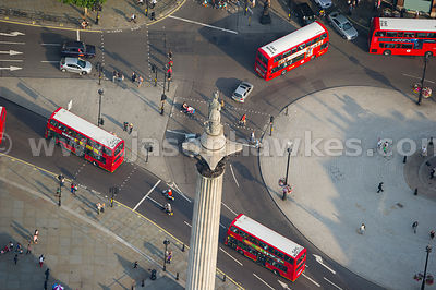 Aerial view of Nelson's Column, Trafalgar Square, London