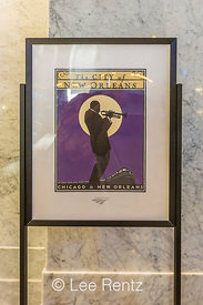 City of New Orleans Poster in the King Street Station in Seattle
