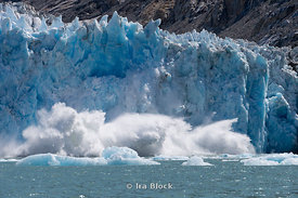 Ice calving off at Dawes Glacier, Endicott Arm, Southeast Alaska.  Sequence 7 of 11.