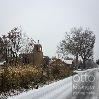 corn, snow, church