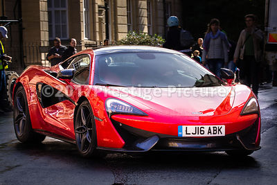 McLaren 570S as featured in the movie Transformers 5 on set in Oxford
