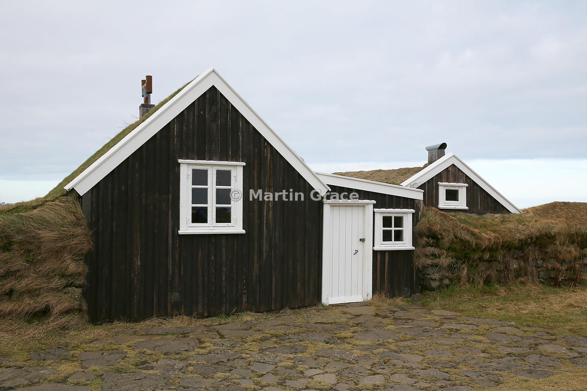 Stekkjarkot, traditional fisherman's dwellings dating from 1855, Reykjanes Peninsula, Iceland