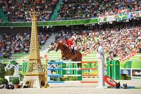 WARD, McLain, (USA), Rothchild during Second round Team competition at Alltech World Equestrian Games at Stade Michel D' Ornano, Caen - France
