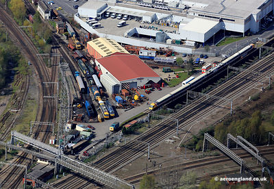 aerial photograph of Crewe Heritage Centre Crewe Cheshire England UK
