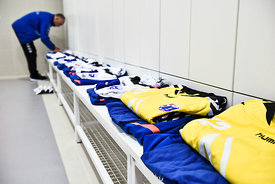 dressing room during the Final Tournament - Final Four - SEHA - Gazprom league, third place match, Varazdin, Croatia, 03.04.2016..Mandatory Credit ©SEHA/Nebojša Tejić