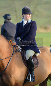 Holly Smith at the meet at Withcote Lodge 16/11