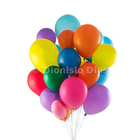 Colorful balloons floating on white background