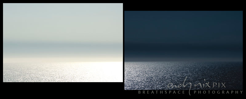 Bright moonlight sparkling on the sea, flat horizon, abstract, blank