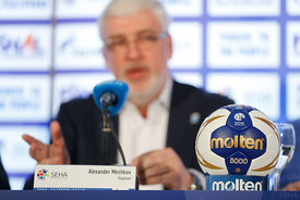 during the Final Tournament - Closing press conference - Final Four - SEHA - Gazprom league, Skopje, 15.04.2018, Mandatory Credit ©SEHA/ Stanko Gruden