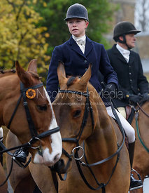 Marina Bealby at the meet - The Cottesmore at Knossington 22/11