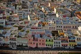 Aerial photogrpah of Old San Juan, Puerto rico before a storm