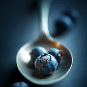 Blueberries Macro Still Life