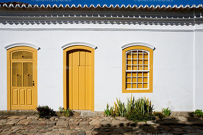 Facade of Colonial House in Paraty.