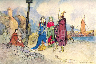 Scene from The Man of Law's Tale by Warwick Goble
