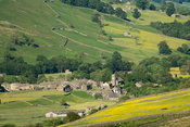Village of Muker in Swaledale, early summer. Yorkshire Dales National Park, UK
