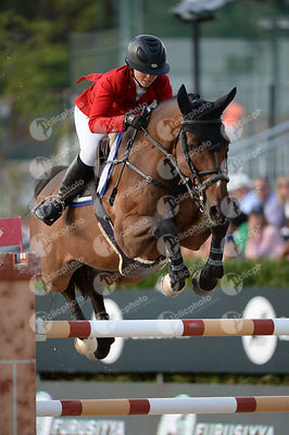 Emma AUGIER DE MOUSSAC ,(CZE), CHARLY BROWN during Longines Cup of the City of Barcelona competition at CSIO5* Barcelona at Real Club de Polo, Barcelona - Spain