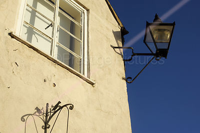 Old lamp on Deddington Town Hall