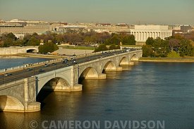 Aerial photograph of Memorial Bridge Washington DC