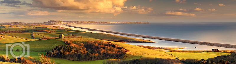 St Cathrines Chapel with Portland and Chesil Beach