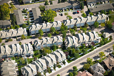 Town homes in a Suburban Development