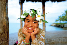 Young girl, Savaii