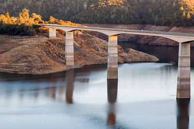 New Melones Lake and Bridge, CA