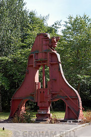 Steam Hammer, Blaenavon Ironworks, Torfaen, South Wales.